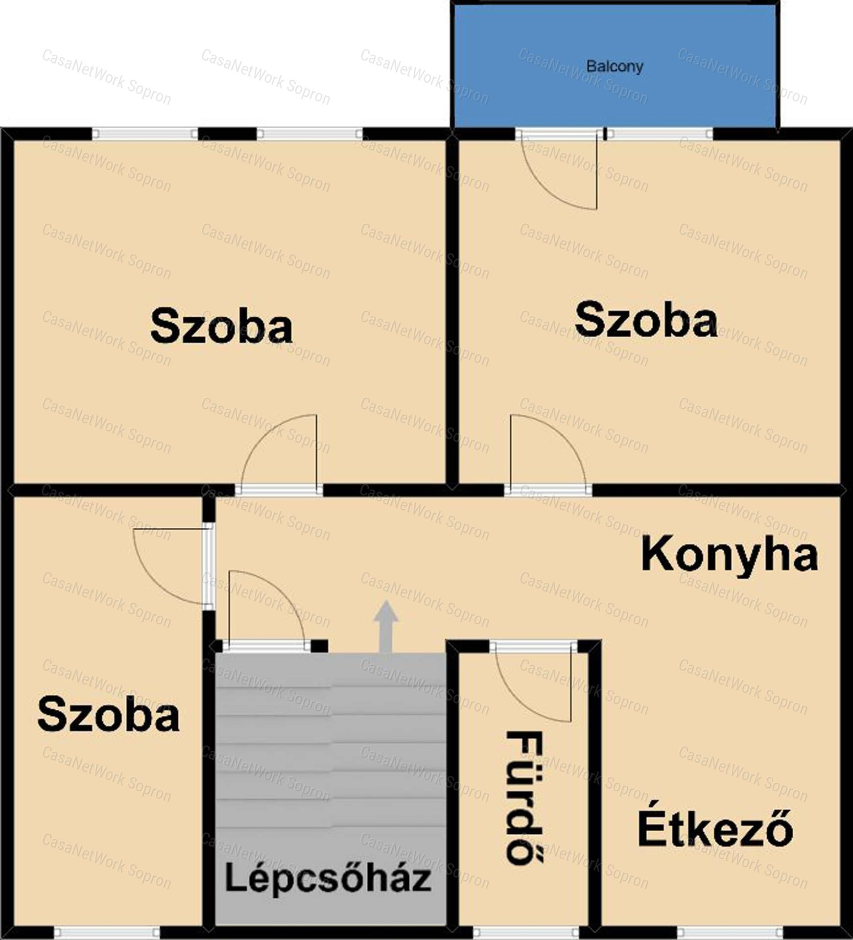 Eladó téglalakás, Győr-Moson-Sopron megye, Sopron (Bánfalva) - sz.: 164301588 - CasaNetWork.hu
