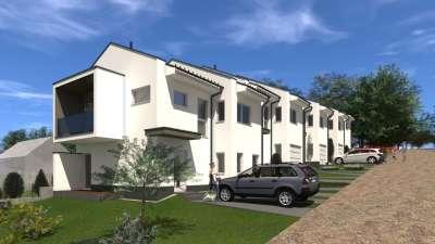 Sopron legújabb lakóparkjában, zöldövezeti, 81 nm-es, kétszintes lakás
