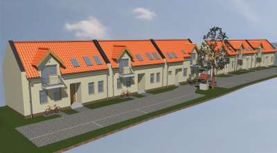 Új építésű, 2 szintes családi ház Bánfalván, 2 kocsibeállóval ELADÓ!