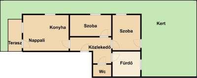 Lövérekben új építésű, kertkapcsolatos lakás