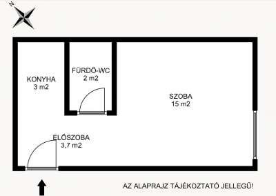 Eladó téglalakás - Tatabánya (Dózsakert) / 1. kép